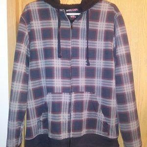 Tony Hawk Plaid Hooded Jacket Youth Size Medium